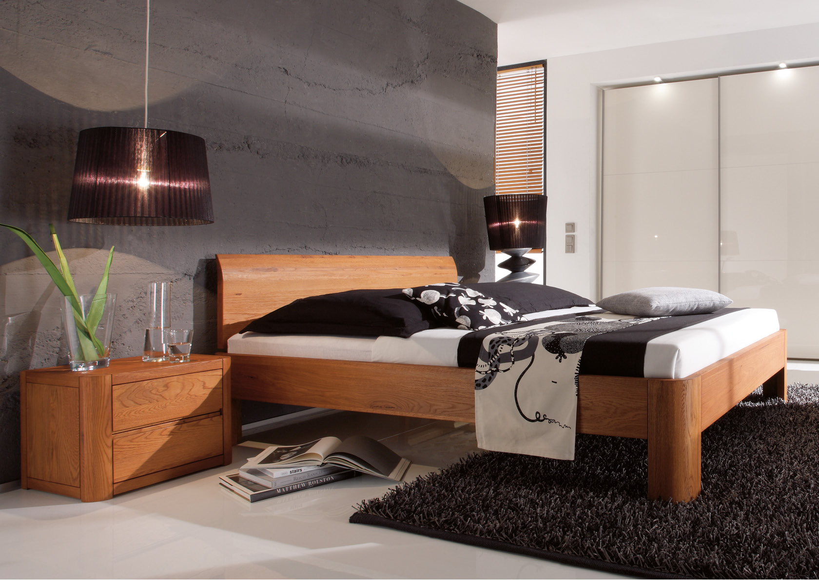 massivholzbett oak line betten thoba handels gmbh. Black Bedroom Furniture Sets. Home Design Ideas